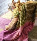 DESIGNERS GUILD - Katan Fuchsia Throw thumbnail
