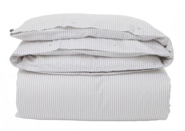 LEXINGTON - Hotel White/Light Gray Tencel Striped
