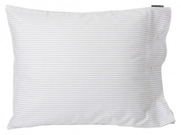 LEXINGTON - White/Light Gray Tencel Striped Pillowcase