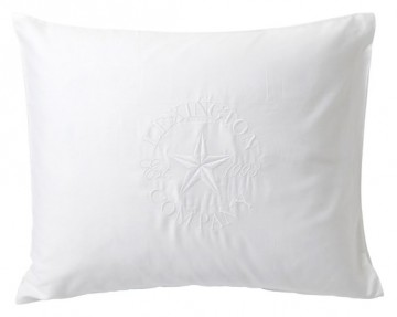 LEXINGTON - Embroidery Pillowcase, White Putevar